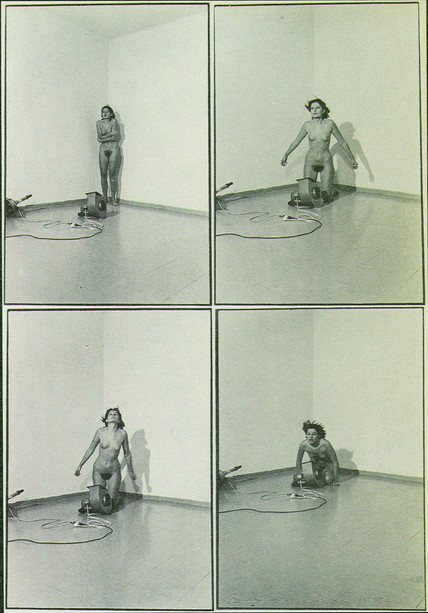 venduto - MARINA ABRAMOVIC, Ritmo 4 - 1974, Performances nel mondo, Mastrogiacomo Editore Padova.
