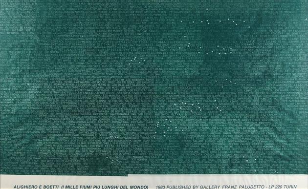 non disponibile ALIGHIERO BOETTI, I mille fiumi più lunghi del mondo, 1983