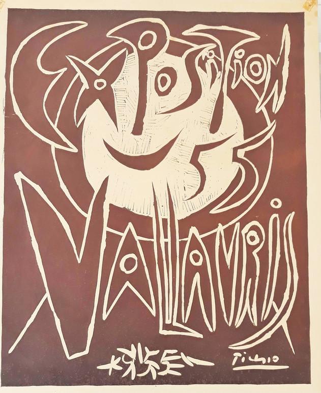 NON DISPONIBILE - Pablo Picasso, Exposition 55 Vallauris,