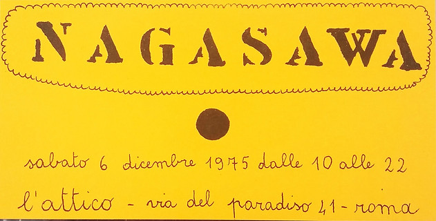 Nagasawa, L'Attico, 1975