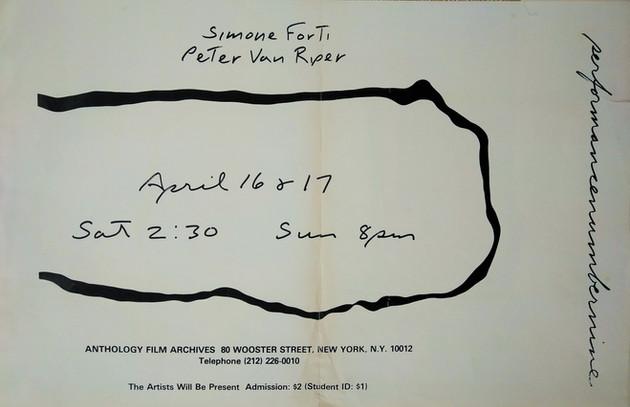 Simone Forti e Peter Van Riper, Performance Number Nine, 1977