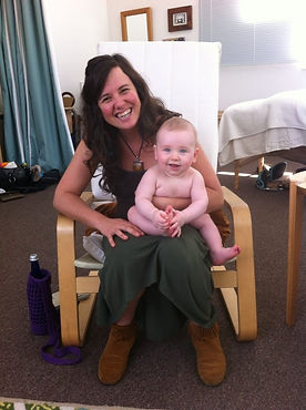 Midwife Rachael with breastfed baby