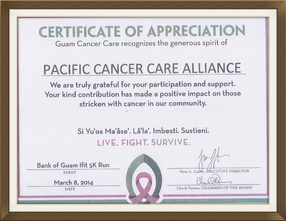 Pacific Cancer Care Alliance joins the Fight for Bank of Guam Ifit 5K