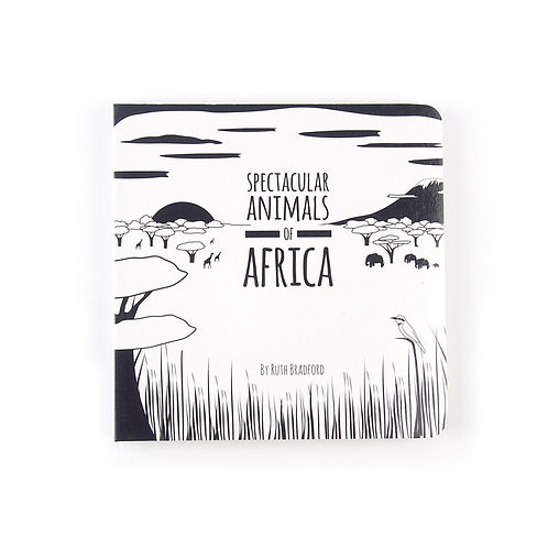 african animals baby book