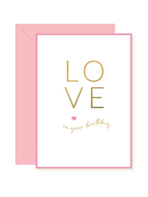 'love birthday' card
