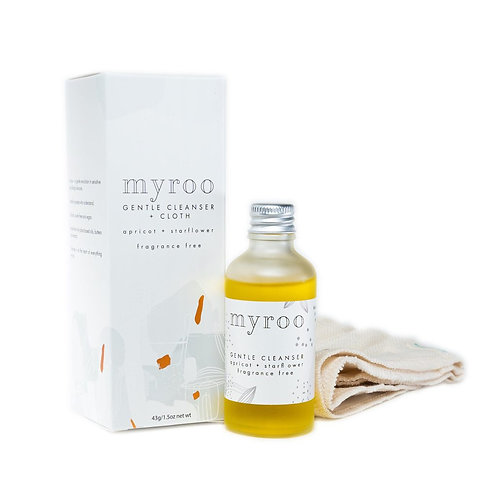 gentle cleanser and cloth - fragrance free