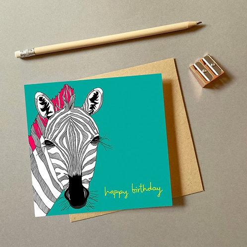 'zebra' card