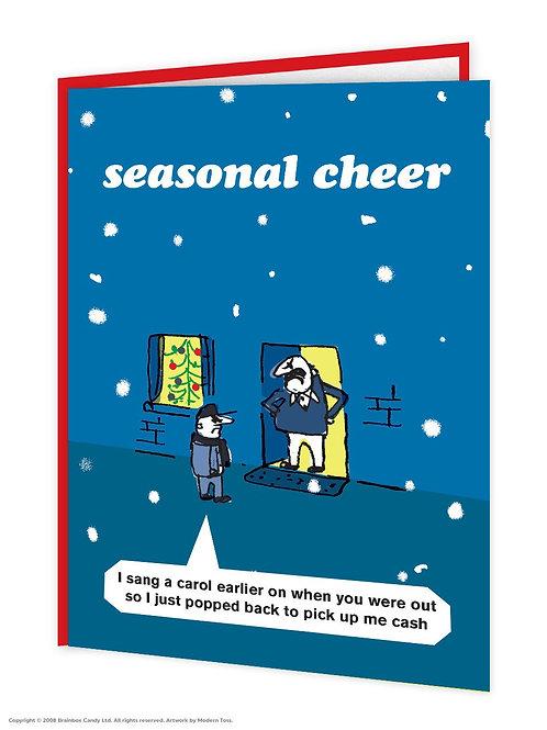 'seasonal cheer' card