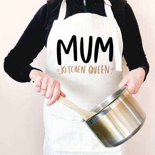mum, kitchen queen apron