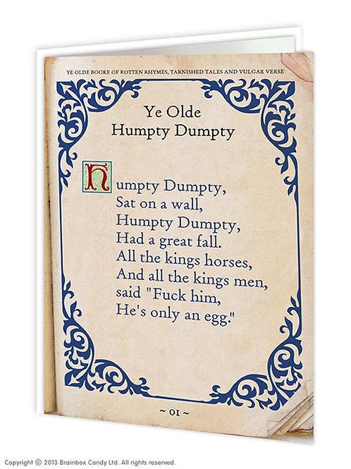 'ye olde humpty dumpty' card