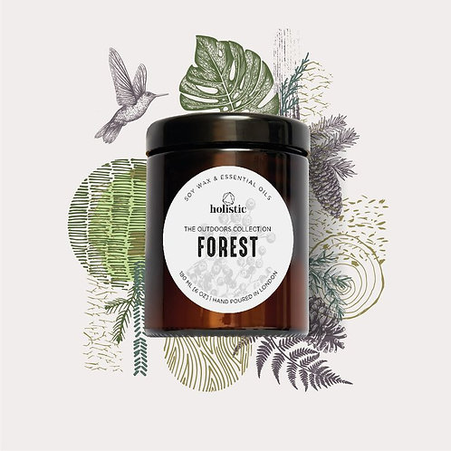 forest scented soy wax candle
