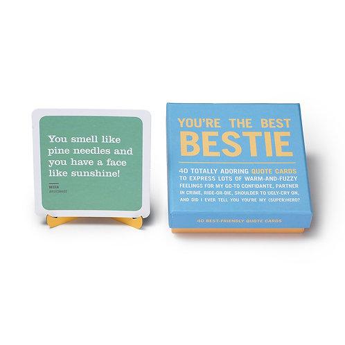 you're the best bestie card deck