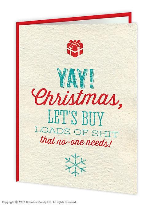 'yay! christmas' card