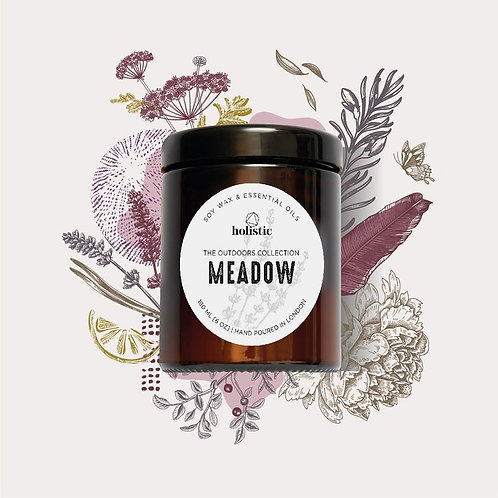 meadow scented soy wax candle
