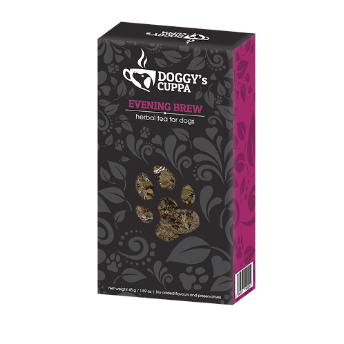 evening brew herbal tea for dogs