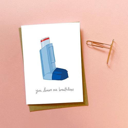 'breathless' card