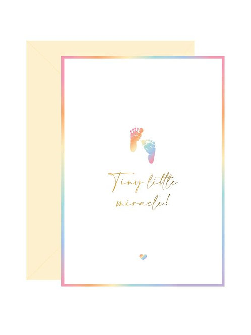 'tiny little miracle' card