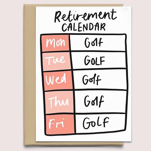 'retirement calendar' card