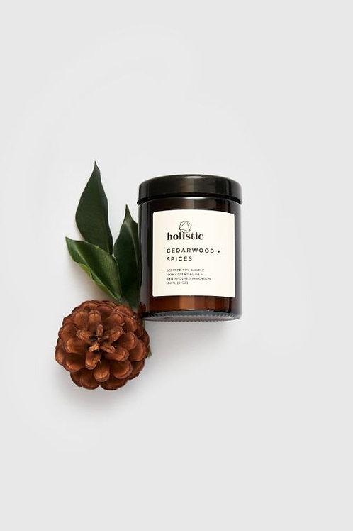 cedarwood & spices soy wax candle
