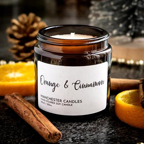 orange & cinnamon soy wax candle 120ml