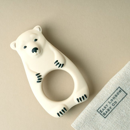 cream bear baby teether