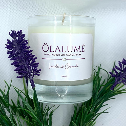 lavender & chamomile soy wax candle 300ml