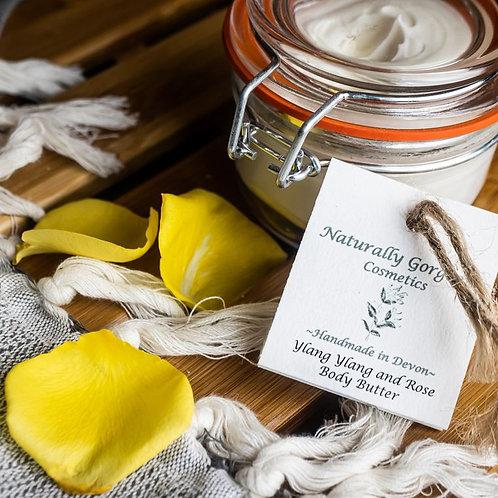 ylang ylang & rose body butter
