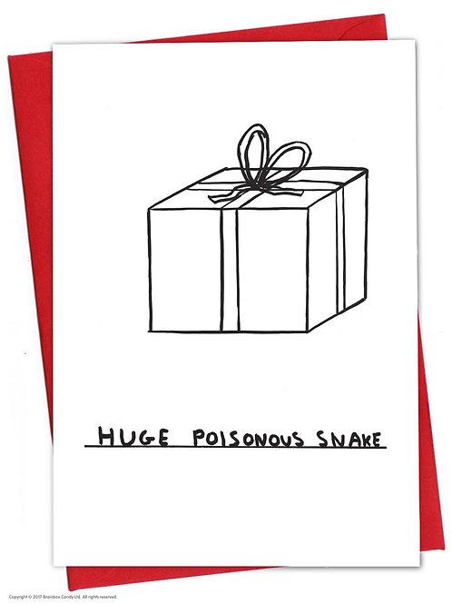 'huge poisonous snake' card