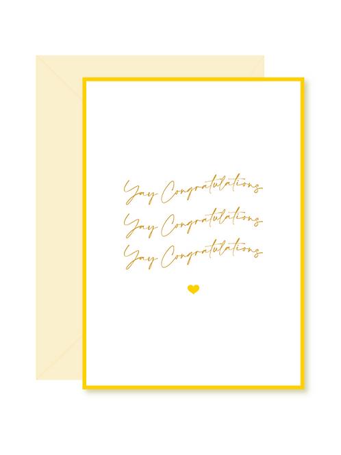 'yay congratulations' card