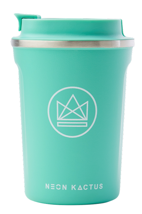 reusable insulated coffee cup - mint green
