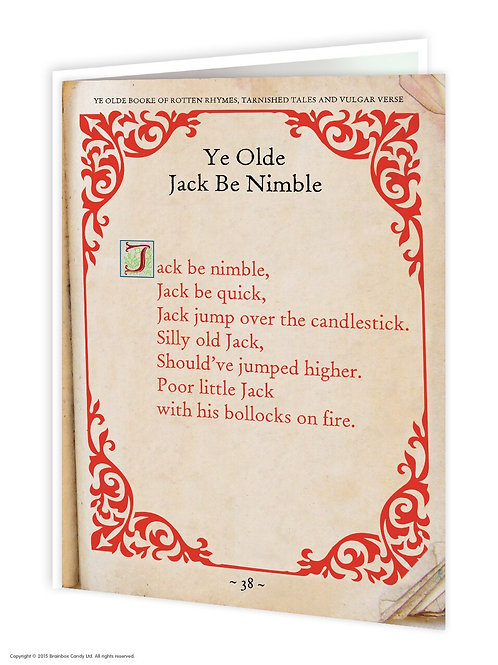 'ye olde jack be nimble' card