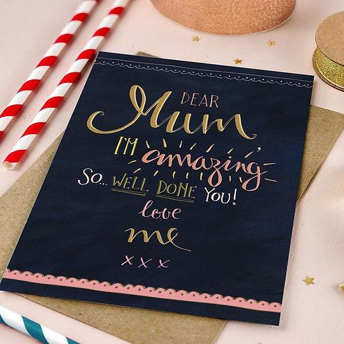 'dear mum' card