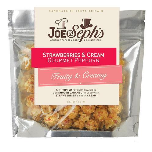 white chocolate & strawberry gourmet popcorn