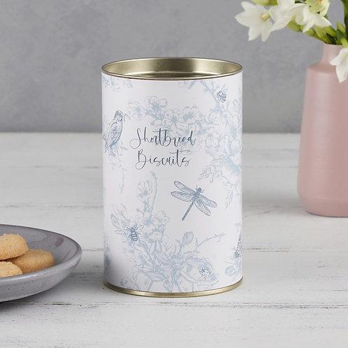 wildlife in spring shortbread biscuits tin