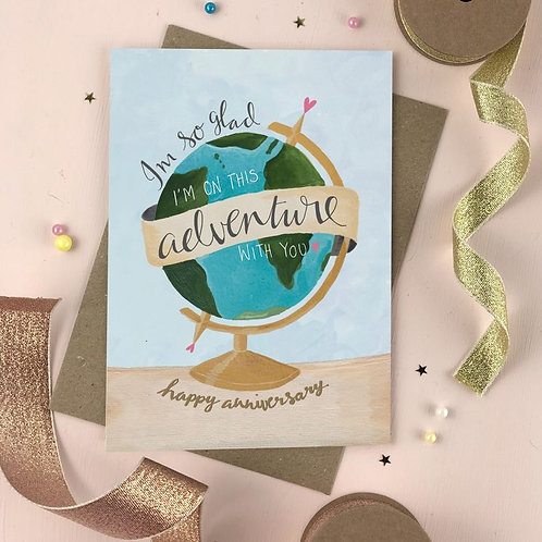 'adventure with you' card