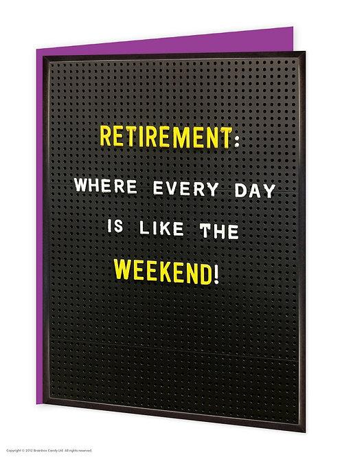 'retirement' card