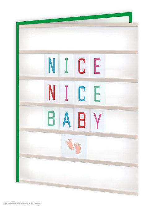 'nice nice baby' card