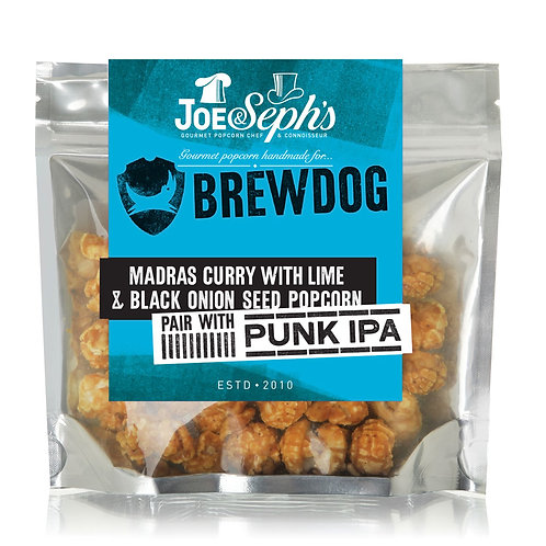 brewdog madras curry with black onion seed & lime gourmet popcorn 32g