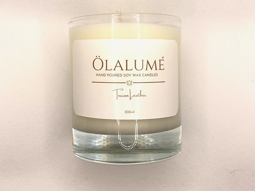 tuscan leather soy wax candle 300ml
