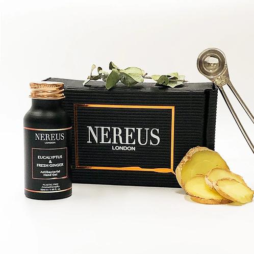 eucalyptus & fresh ginger antibacterial hand gel 50ml