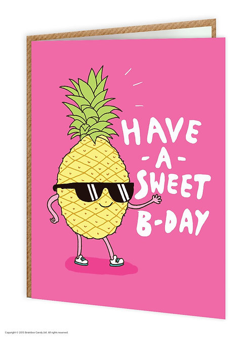'have a sweet b-day' card