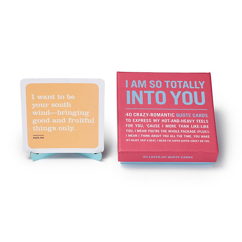 i am so totally into you card deck