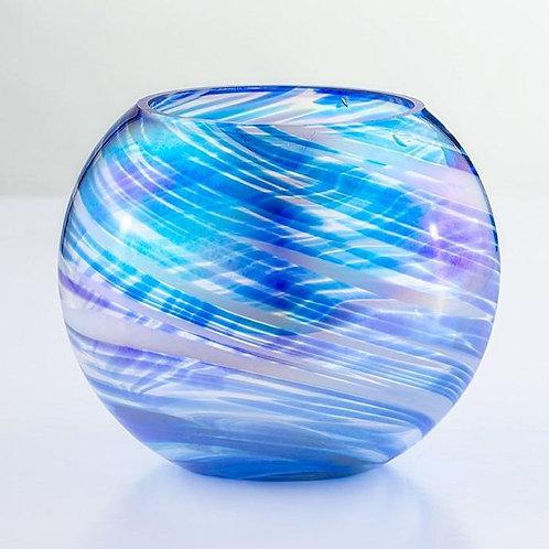 blown glass tealight holder