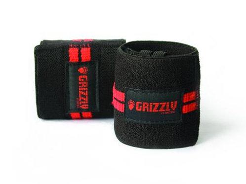 "Grizzly 3"" Red Line Wrist Wraps"