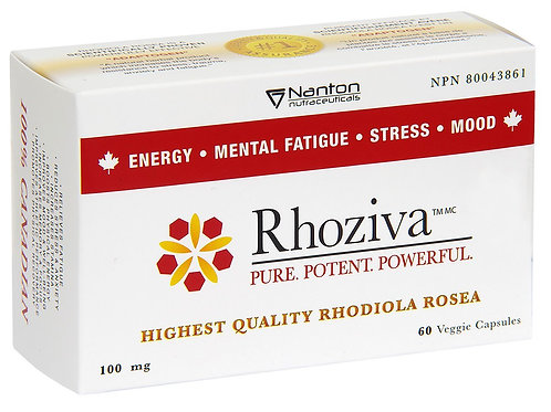 RHOZIVA 100MG - 60VCAPS - NANTON NUTRACEUTICALS