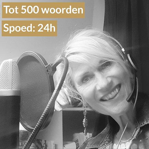 Spoed Voice-over opname tot 500 woorden