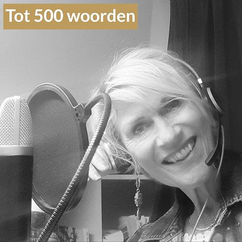Voice-over opname tot 500 woorden