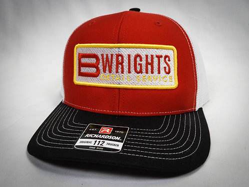 BWRIGHTS PATCHED TRUCKER HAT