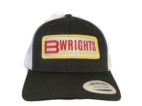 BWRIGHTS PATCHED BLACK TRUCKER HAT
