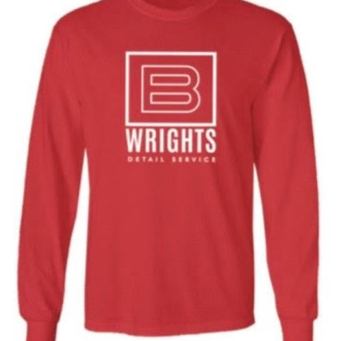 RED SQUARED LONG SLEEVE